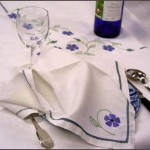 linge ancien table couture lin