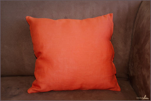 tutoriel facile coussin orange