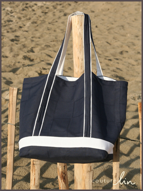 le tuto du sac de plage couturelin. Black Bedroom Furniture Sets. Home Design Ideas