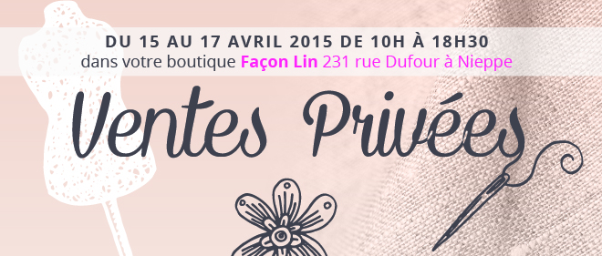 Ventes privées Couture Lin